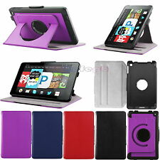 360° Rotating PU Leather Smart Case Stand Cover fr Amazon Fire HD 6 Tab 2014 Gen