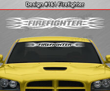Design #161 FIREFIGHTER Tribal Flame Windshield Decal Window Sticker Graphic Car