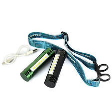 Rechargeable 3 Modes 6X LED Mini 2 in 1 Flashlight Headlamp Torch Light Lamp