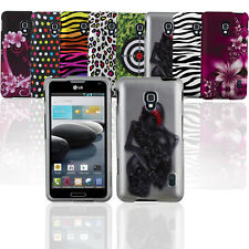 LG Optimus F6 D500 MS500 Patterned Protective Hard Rubberized Case Snap-on Cover