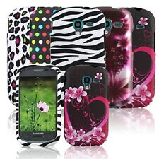For Samsung Galaxy Exhibit T599 Cool Designs Rubberized Hard Snap On Case Cover