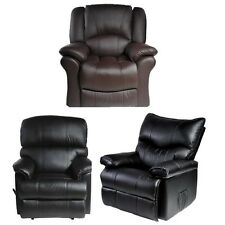 Deluxe Leather Recliner Armchair Lift Rise Reclining Sofa Arm Chair (New)