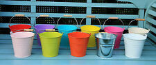 METAL TIN HERB FLOWER BUCKET POT PLANTER HOLDER CONTAINER WEDDING FAVOURS 13CM
