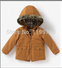 Winter Kids Toddler Baby Boys Girls Cashmere Cotton Hoodie Jacket Coat Outwear