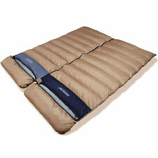Goose Down Sleeping bag -15 Camping Backpacking Double Couple 2 zip Winter