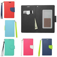 CRISIS ID Holder Leather Strap Wallet Phone Case Pouch Flip Cover for Huawei
