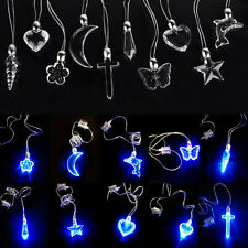 10 Style LED Blue Magnetic Light Charm Pendant Necklace Gift Xmas Party Hot