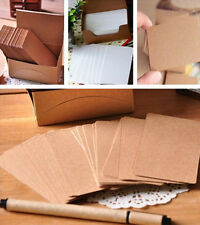 XI CA 100 Blank Kraft Paper Hang Tags Wedding Party Favor Label Price Gift Cards