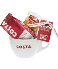 Costa Ceramic Medium Medio Cup Coffee Biscuits Gift Set ChristmasLimited Edition