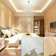 10M Fashion Luxury Non-woven Flower Embossed Textured Wallpaper Rolls Bedroom