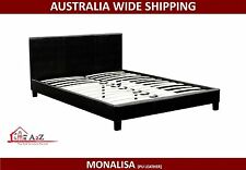 New PU Leather Queen Size Monalisa Bed frame - White/Brown/Black