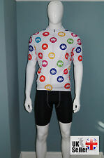 CLEARANCE designer cycling cycle jersey top shirt Retro Space Invaders design