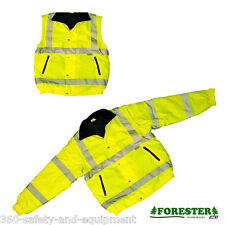 Insulated Hi-Vis Class 3 Safety Jacket Reflective Winter Coat Sizes: M To 4XL