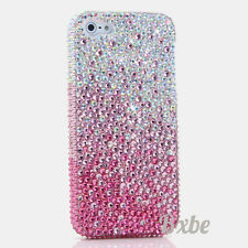 iPhone 6 6S / 6S Plus 5S Bling Crystals Case Cover Faded AB Pink Faceplate