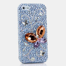 iPhone 6 6S / 6S Plus 5S Bling Crystals Case Cover Blue Orange Purple Butterfly
