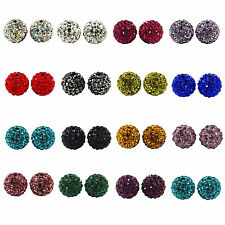 Clay Pave Crystal Rhinestone  Ball BEADS  Shamballa Bracelet t Making 10mm New
