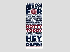 "UNIVERSITY OF MISSISSIPPI Ole Miss 6x16 Posters Print ""HOTTY TODDY"" PRICE DROP!!"
