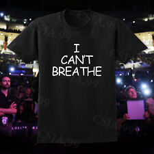 I CAN'T BREATHE Men's Black T-Shirt Protest  NYPD Police Cant Breathe Slogan