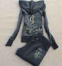Juicy Couture Velour Dark Grey Tracksuit Womens