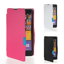 Slim Fit Side Flip Hard Leather Case Cover For Nokia Lumia 625