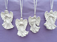 ANGEL FIGURINE HANGERS WITH WHITE RIBBON