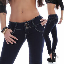 Jeans for Women Trousers Skinny Hipsters Tube Wide Waistband Washed D87