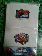 BOYS 2 PACK OF SPIDERMAN VESTS 2-3 3-4 5-6 OR 7-8 YEARS NEW IN PACKET