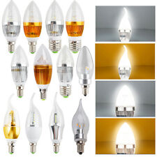9W 12W E14 E26 E27 LED Candle Light Warm Cool White Lamp Ceiling Chandelier Bulb