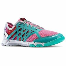 Reebok ONE TRAINER 2.0 GR Women's M44518 Pink/Teal/Sil/Wh Training Shoe size 10