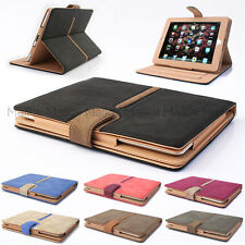 Suede Leather Smart Case Cover for iPad Air 1 & 2 + Screen Shield & Stylus