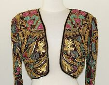 Jasdee Bolero Jacket Hand Bead & Sequins Work & Hand Print On Silk Style 5040