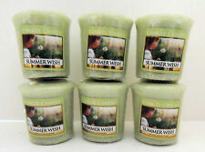YANKEE CANDLE LOT OF 6 VOTIVE CANDLES - MANY SCENTS - FREE SHIPPING