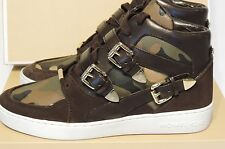 New Michael Kors Robin High Top Sneakers military olive green high top