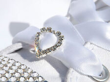 Crystal Heart Shoe Charms for your Rhinestone Customised White Converse Trainers