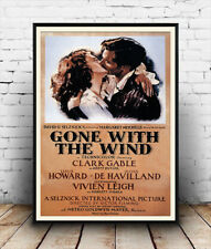 Gone with the wind , Vintage movie advertising Poster reproduction.