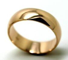 KAEDESIGNS 6mm GENUINE SOLID 9ct ROSE GOLD WEDDING BAND RING Size N/7 to Z+4/15