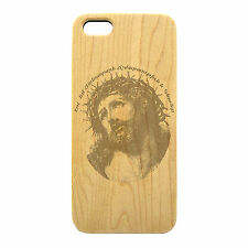 Wood Engraved, Armenian Prayer, I am the way, the truth and the life Phone Case
