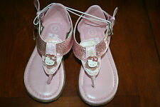 Toddler Girls Hello Kitty Glittery Pink Sandals Sz 5,6,7 NWT