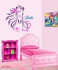 YOUR CUSTOM NAME on Horse Wall Decor Bedrooms Gloss Decal Vinyl Sticker Girls