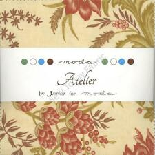 Atelier Charm Pack by Moda, 42 5-inch Precut Cotton Fabric Squares 44050PP