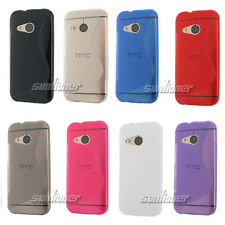 soft S-line Gel Silicone Rubber pure TPU Skin Case Cover for HTC ONE M8 mini