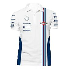 Williams Martini Racing Team Zip Polo Shirt