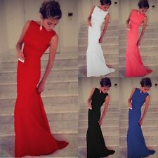 Women Bandage Fishtail Maxi Party Evening Ball Prom Gown Dress Size 8 - 14