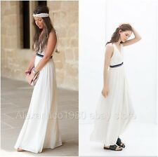 NWT_ ZARA OFF WHITE LONG DRESS MAXI_SIZE S,L