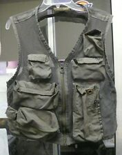 US AIR FORCE SURVIVAL VEST SRU - 21/P SAGE LARGE W/ POCKETS NYLON VAR. CONDTIONS