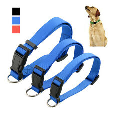 Durable Adjustable Nylon Pet Puppy Cat Dog Collar with Buckle Lead S/M/L