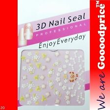 3D Nail Art Seal Beautiful Flowers Nail/Toe Stickers Pack Party&Ladies Gift NEW3