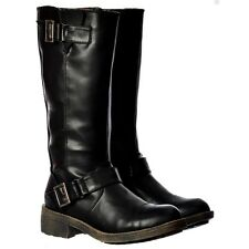 LADIES ROCKET DOG TERRY VINTAGE HIGH BOOTS BLACK NOW ON SALE RRP £75