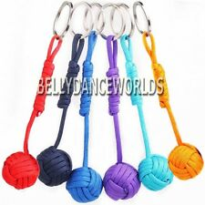 PARACHUTE CORD ROPE KNOT KEY CHAIN RING SURVIVAL EDC OUTDOOR SPORT POCKET TOOL