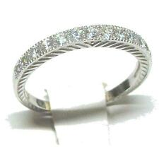 Extra Band Sterling Silver Band with Pave' Cz Stones
